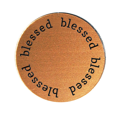 BLESSED Inspirational COPPER Locket Plate ~Choose Your Size!