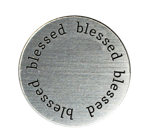 BLESSED Inspirational Silver Locket Plate ~Choose Your Size!