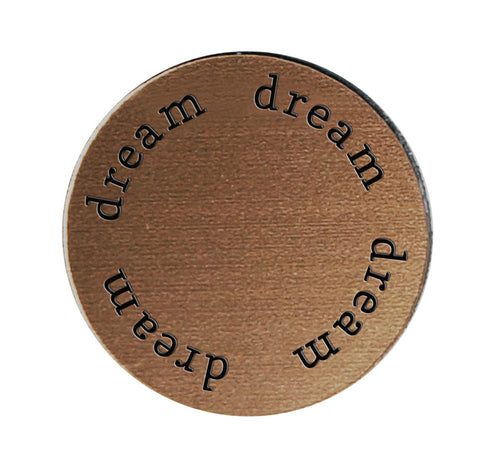 DREAM Inspirational BRONZE Locket Plate ~Choose Your Size!