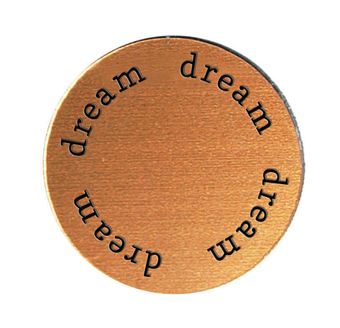DREAM Inspirational COPPER Locket Plate ~Choose Your Size!