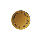 DREAM Inspirational GOLD Locket Plate ~Choose Your Size!