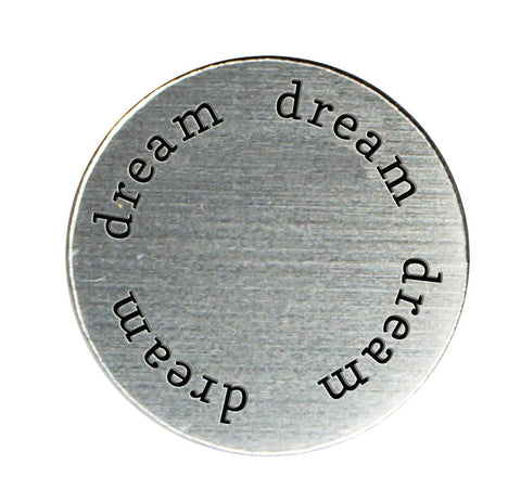 DREAM Inspirational Silver Locket Plate ~Choose Your Size!