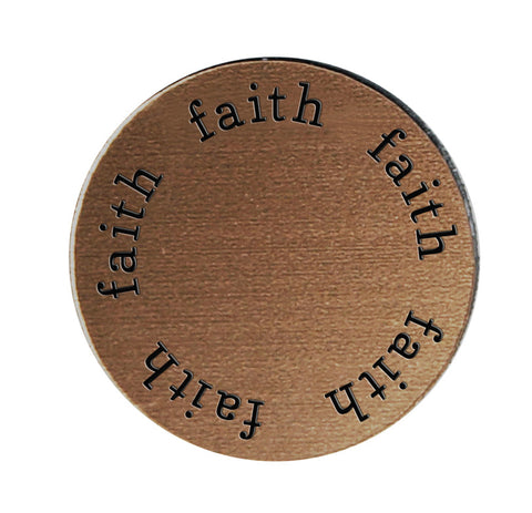 FAITH Inspirational BRONZE Locket Plate ~Choose Your Size!