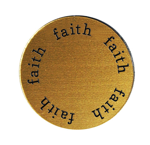 FAITH Inspirational GOLD Locket Plate ~Choose Your Size!