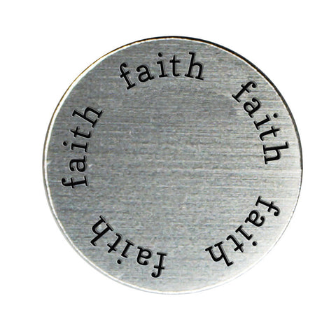 FAITH Inspirational Silver Locket Plate ~Choose Your Size!
