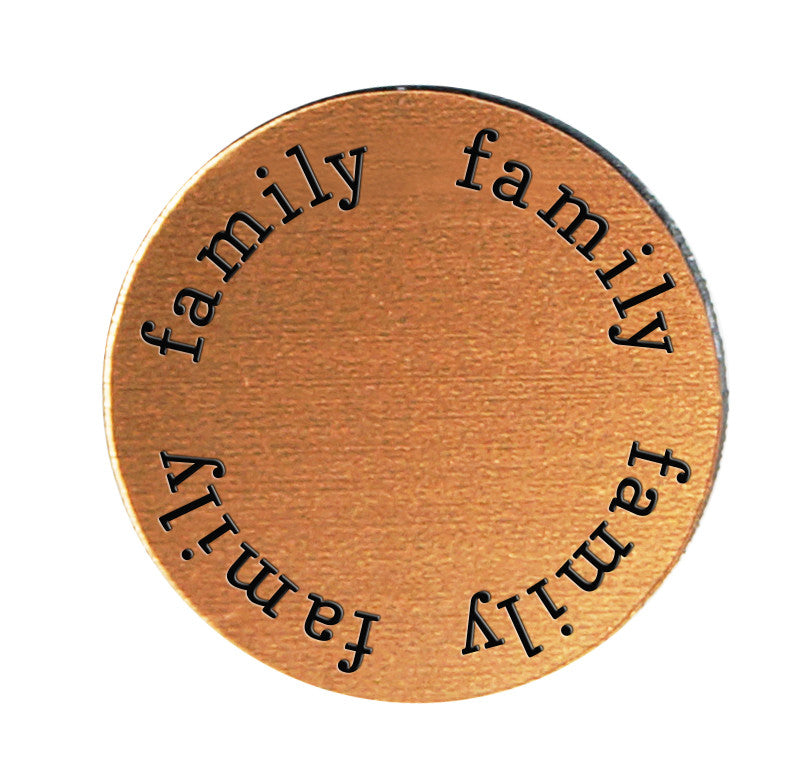 FAMILY Inspirational COPPER Locket Plate ~Choose Your Size!