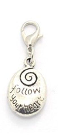 Silver ~ Follow Your Heart Locket Dangle