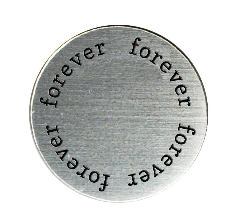 FOREVER Inspirational Silver Locket Plate ~Choose Your Size!