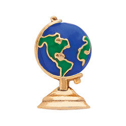 Globe Earth Floating Locket Charm