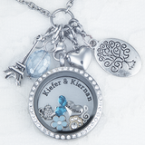 Close to Your Heart Crystal Locket - LARGE 30 mm - Secure Twist Top Crystal Floating Locket