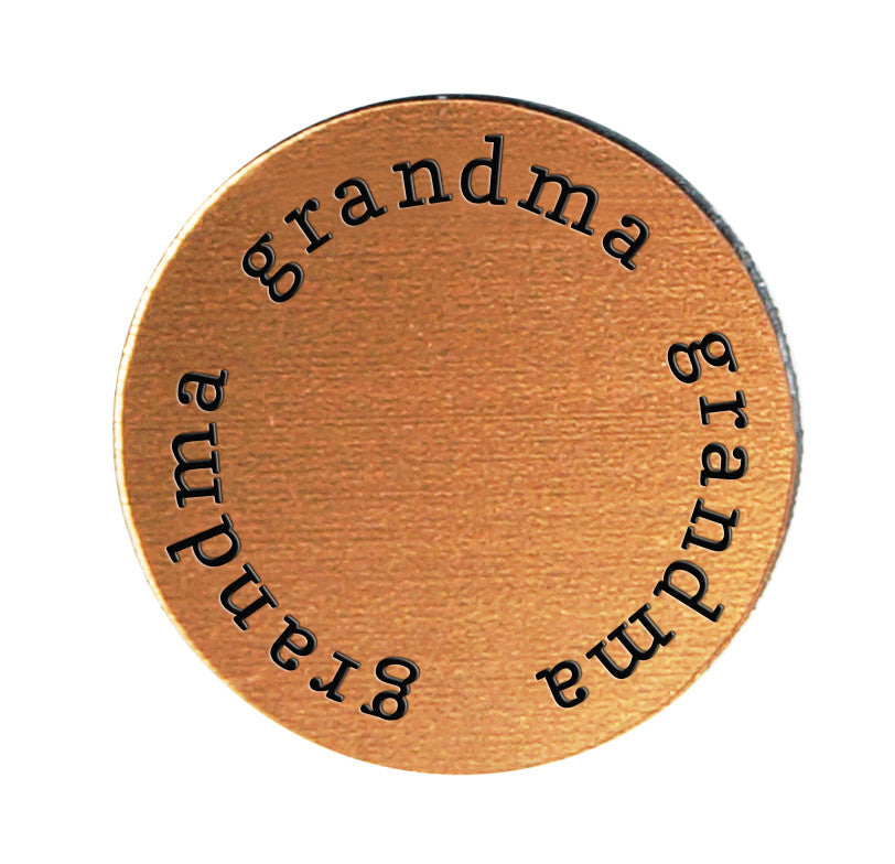 GRANDMA Inspirational COPPER Locket Plate ~Choose Your Size!