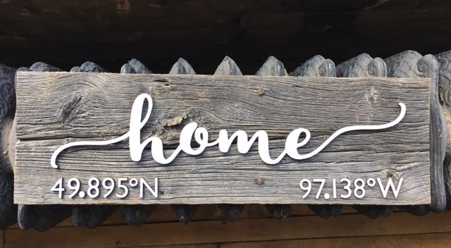 a251a0ccaacf1 home CUSTOM GPS Coordinates Authentic Barn wood Sign 5-7