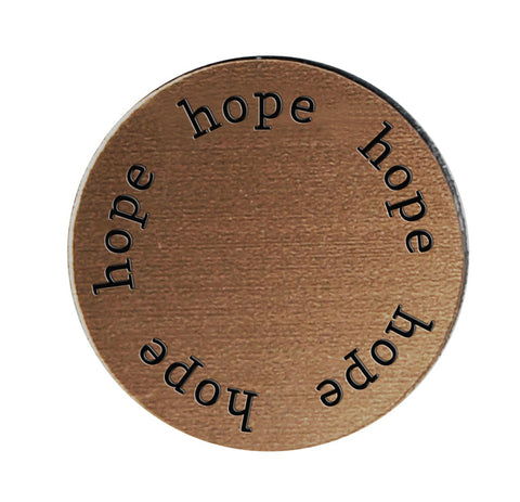 HOPE Inspirational BRONZE Locket Plate ~Choose Your Size!