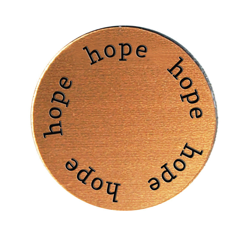 HOPE Inspirational COPPER Locket Plate ~Choose Your Size!