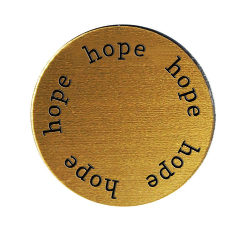 HOPE Inspirational GOLD Locket Plate ~Choose Your Size!