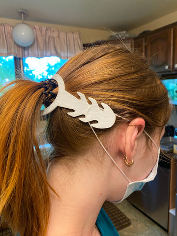 Ear Saver Ponytail version for Disposable Masks