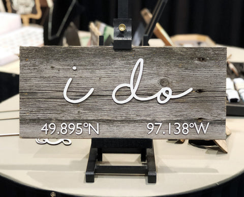 I do CUSTOM GPS Coordinates Authentic Barn wood Sign with cut out 3D Numbers