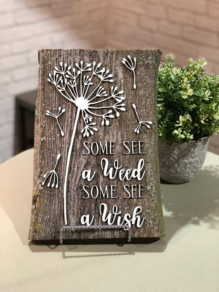 "Flush Authentic Barn Wood sign 8-9"" x 12"""