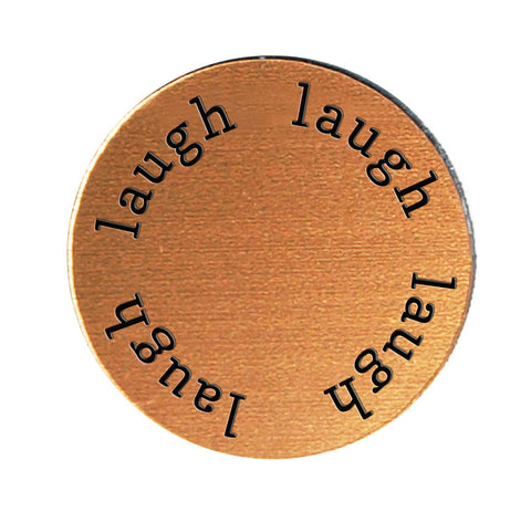 LAUGH Inspirational COPPER Locket Plate ~Choose Your Size!