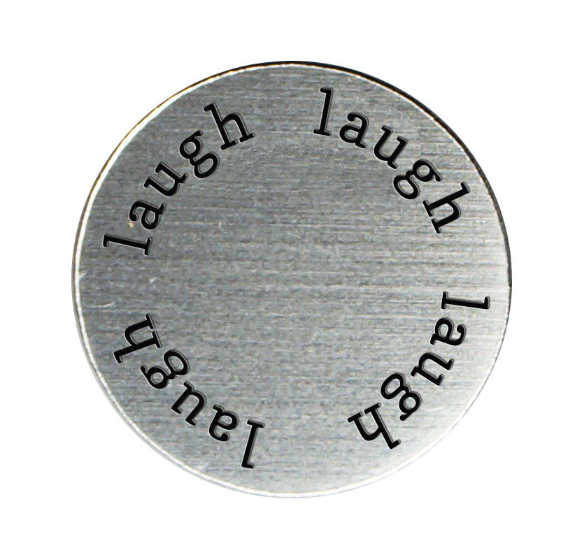 LAUGH Inspirational Silver Locket Plate ~Choose Your Size!