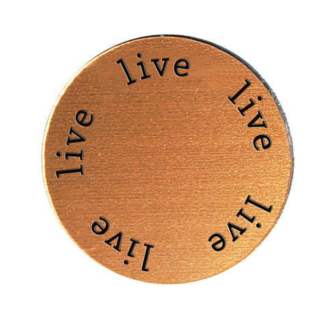 LIVE Inspirational COPPER Locket Plate ~Choose Your Size!
