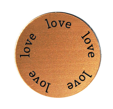 LOVE Inspirational COPPER Locket Plate ~Choose Your Size!