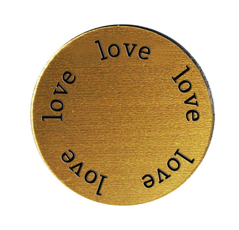LOVE Inspirational GOLD Locket Plate ~Choose Your Size!