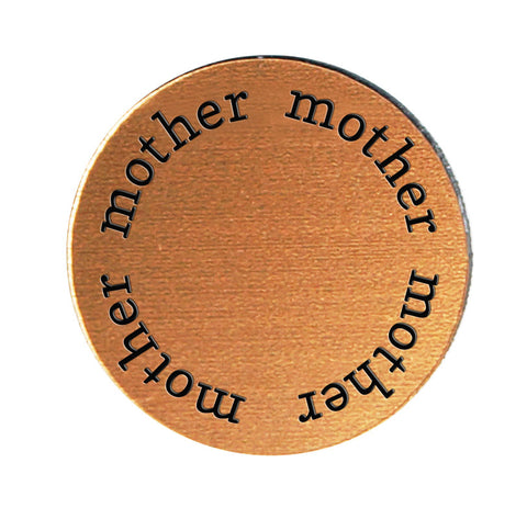 MOTHER Inspirational COPPER Locket Plate ~Choose Your Size!