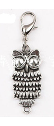 Silver ~ Silver Owl Locket Dangle