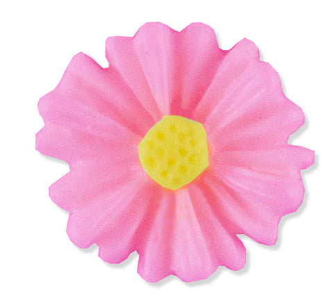 Resin Pink Daisy Floating Locket Charm