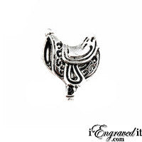 Horse Saddle Floating Locket Charm