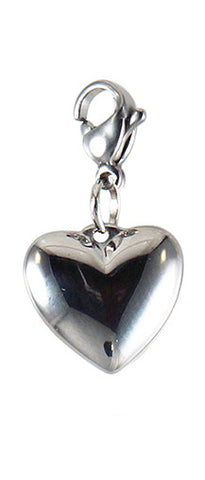 Silver ~ Silver Heart Locket Dangle