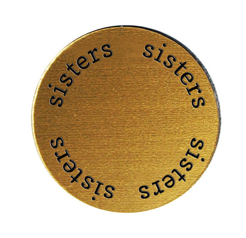 SISTERS Inspirational GOLD Locket Plate ~Choose Your Size!
