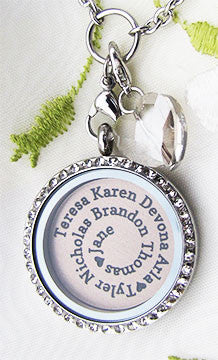 Personalized Family SPIRAL Name Plate Locket Plate for 30mm Locket ~Choose Your Colour!