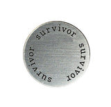 SURVIVOR Inspirational Silver Locket Plate ~Choose Your Size!