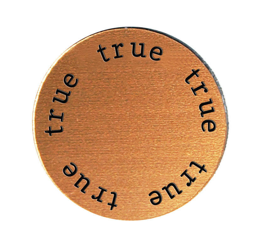 TRUE Inspirational COPPER Locket Plate ~Choose Your Size!
