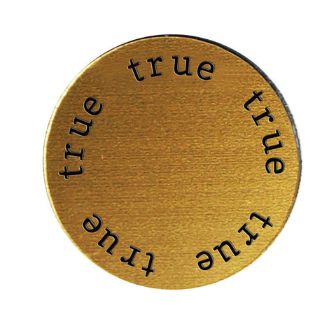 TRUE Inspirational GOLD Locket Plate ~Choose Your Size!