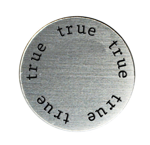 TRUE Inspirational Silver Locket Plate ~Choose Your Size!