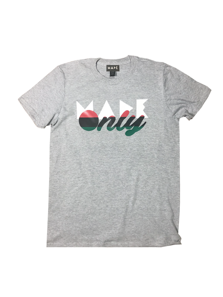 """Made Only"" Pan-African Flag logo tshirt"