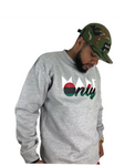 """Made Only"" Pan-African flag logo crewneck sweatshirt"
