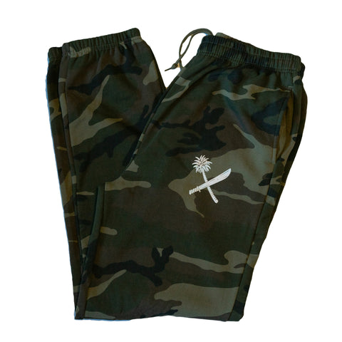 Camo Crosscut Sweats