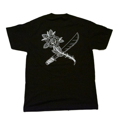 CROSSCUT ROSE BLK TEE