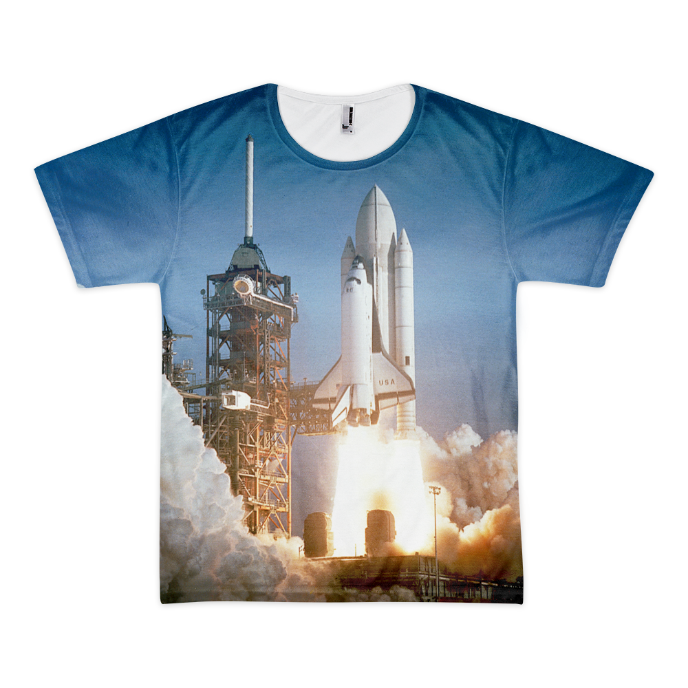 Space Shuttle Launch All Over T-shirt