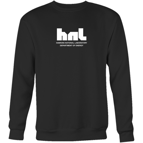 Strangers Things Hawkins National Laboratory Black Sweatshirt