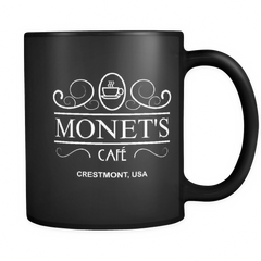 Monet's Cafe 13 Reasons Why Mug Black Left