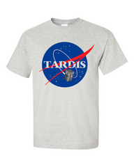 Dr Who Tardis Nasa Grey Tshirt