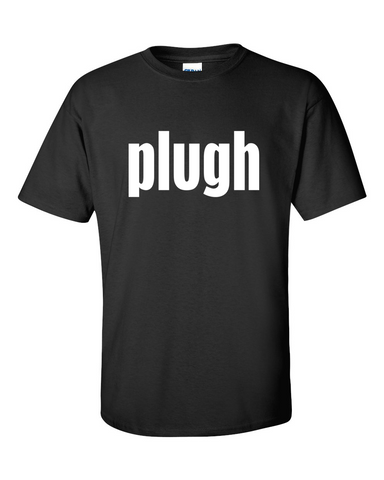 Colossal Cave Adventure plugh Black T-shirt