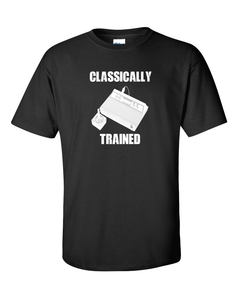 Atari Classically Trained Old School Gamer Black T-shirt