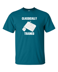 Atari Classically Trained Old School Gamer Blue T-shirt