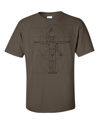 The Flash Cisco's THE VITRUVIAN MAN Tshirt Olive